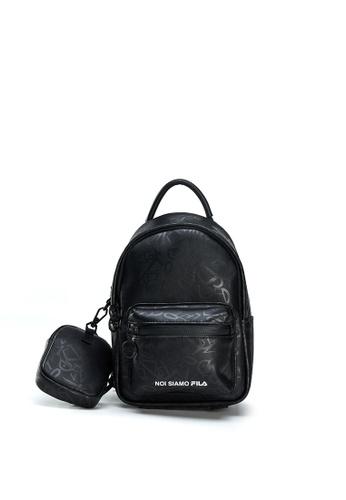 FILA black FUSION All Over Jacquard Print Mini Backpack 26E7FACD63327AGS_1