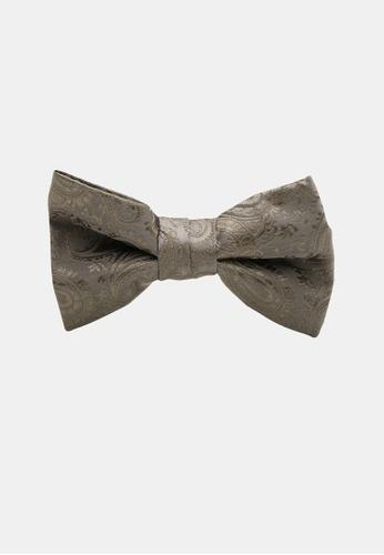 Buckle grey Paisley Bow Tie with Pocket Hanky 4E85FAC34646A2GS_1
