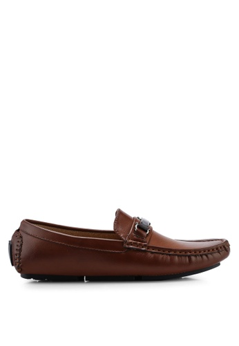 High Cultured brown Horsebit Loafers-336 77752SH4D9729BGS_1