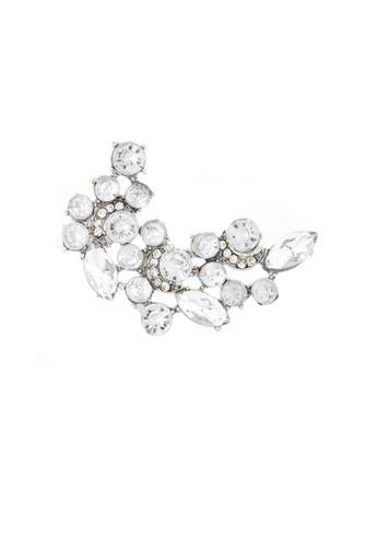 Urban Outlier silver Rhinestone Earrings A37885 6FD7BAC7A4114DGS_1