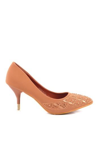 CLARETTE brown Clarette Heels Genevieve Camel CL076SH98QLXID_1