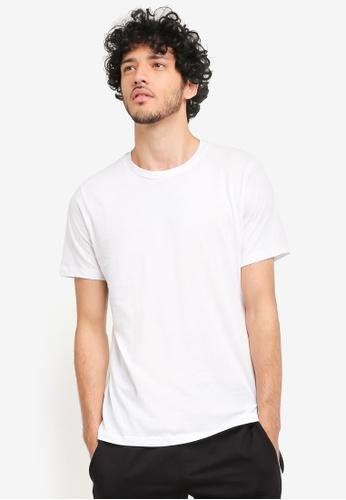 MANGO Man white Essential Cotton T-Shirt MA449AA0T1EXMY_1