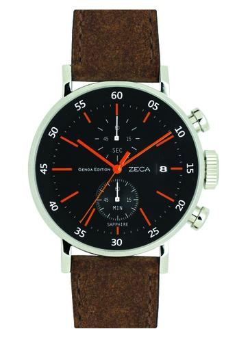 ZECA black and brown and orange \Zeca Watches Men Fashion -  266M Brown Black ZE260AC97SKKSG_1