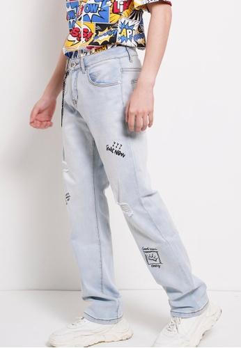 Hi Style blue Long Jean Straight Cut 1FD8BAA5ADB093GS_1