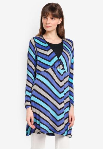 Aqeela Muslimah Wear blue Nursing Kimono Top 09D5FAA45F6542GS_1