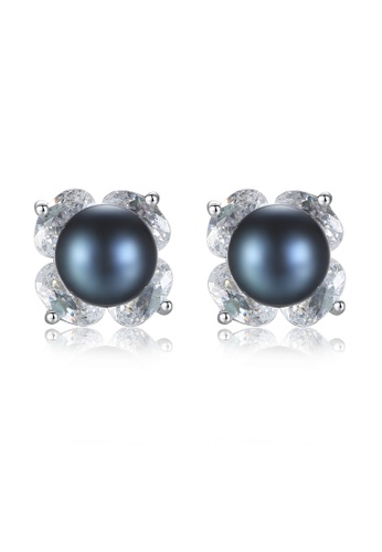 A.Excellence black Premium Black Pearl Elegant Earring 761FBACD41F1D6GS_1