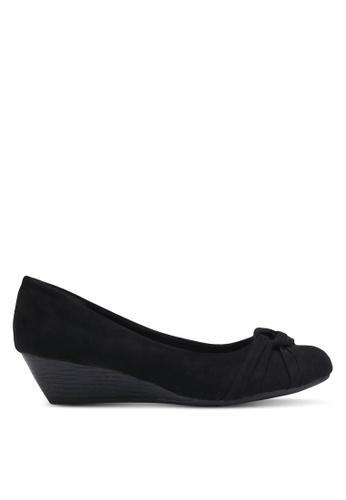 Bata black Knotted Wedges BA156SH0RCVSMY_1