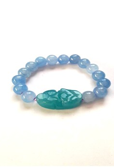Feng Shui Aquamarine Money Catcher Pi Yao Bracelet