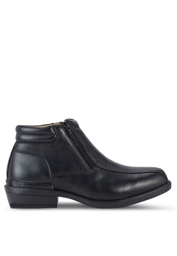 Louis Cuppers black Side Zip Boots LO977SH99AUMMY_1