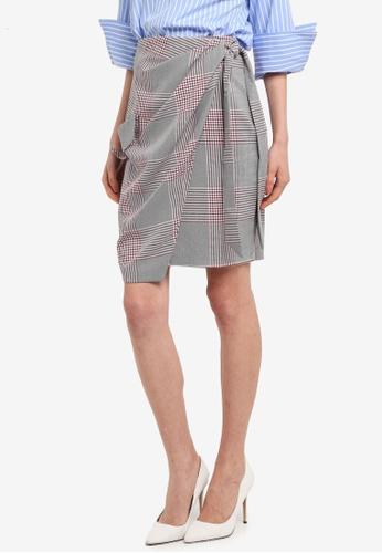 CLOSET grey Tie Waist & Pocket Skirt 75AF4AAC3C79D0GS_1