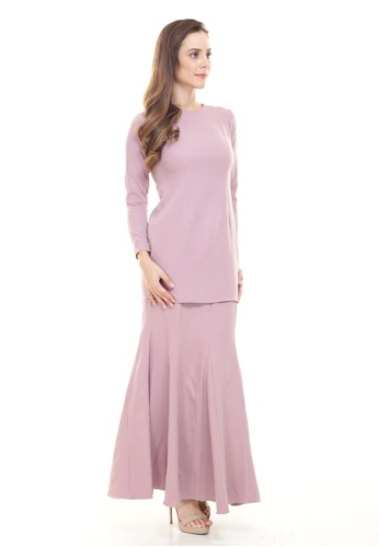 Rina Kurung in Dusty Pink from Rina Nichie Basic in Pink