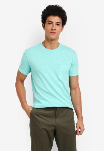 J.Crew blue Men's Slim Garment Dye Slub Jersey Tee 9E178AAB35ABEDGS_1