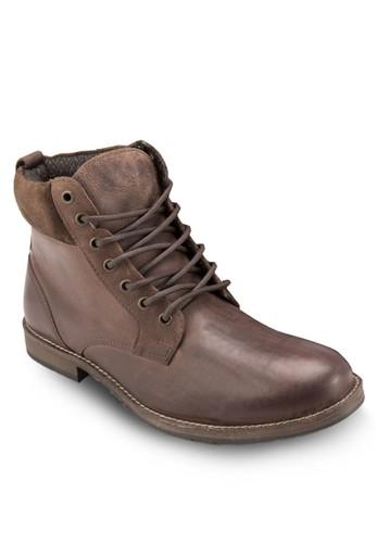 繫帶皮革短靴, 鞋,esprit台灣outlet 鞋