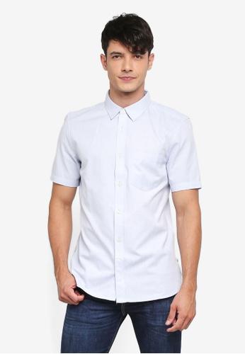 French Connection blue Classic Oxford Shirt 3B7EFAADD51FD4GS_1