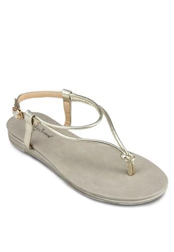 扭結踝帶涼鞋, 女鞋,zalora 男鞋 評價 鞋