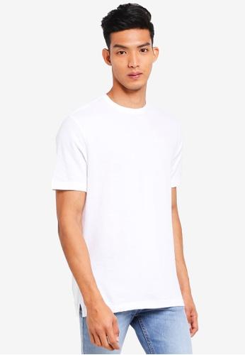 MANGO Man 白色 素色基本T恤 0AD62AA12EA60BGS_1