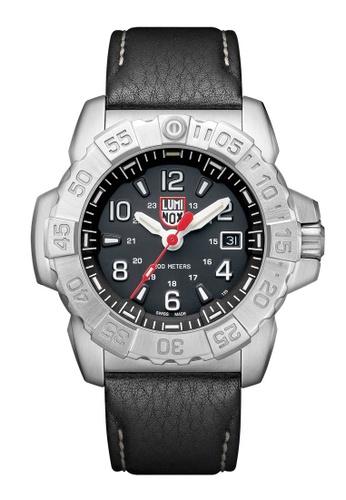 Luminox black Luminox Navy Seal Steel Black Leather Watch 40BD9ACE341957GS_1