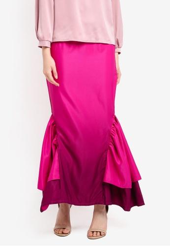 Nuraini pink Lisa Skirt NU222AA0SS44MY_1