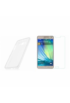 Silicone Soft Case for Samsung Galaxy A8 with Premium Tempered Glass