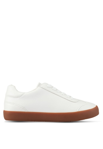 ZALORA white Minimalist Detail Sneakers 73B38SH5FB3977GS_1