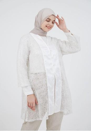 Hijabenka white Genci Outer White 93C37AAD1A9600GS_1
