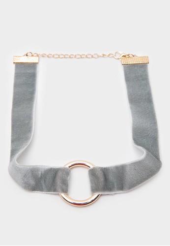 Berrybenka Label grey Bechette Necklace Grey C7450AC95B5688GS_1