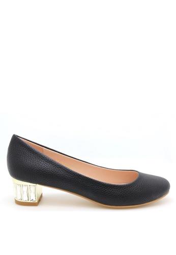 PRODUIT PARFAIT black Rhinestones Heel Dress Pumps AD62ESH89D46B5GS_1
