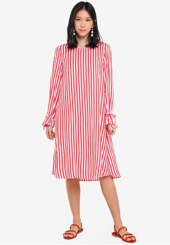 Y.A.S white and red Yasstrey Long Sleeve Dress A97A2AAA0EBD00GS_1