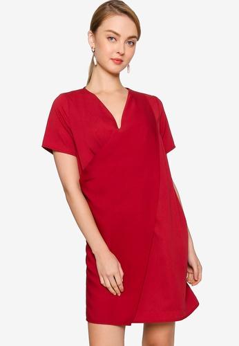 ZALORA WORK pink Layer Detail Dress E48F8AA9DE5472GS_1