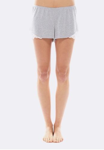 Deshabille grey Essential Shorts 34AF6AACEFF1F7GS_1