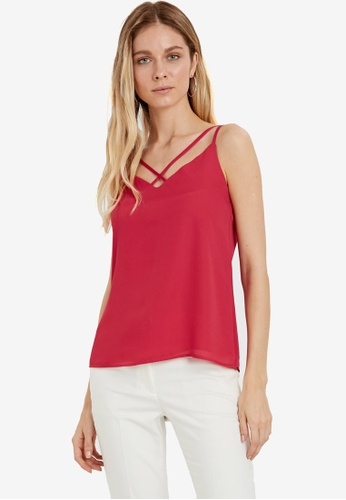 LC Waikiki pink Cross Neck Detailed Strappy Blouse 455A9AA5299C1EGS_1