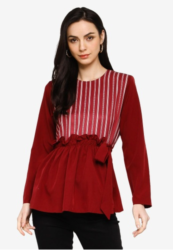 Gene Martino red Muslimah Blouse 8C591AA650CE5AGS_1