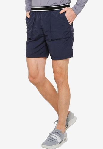ZALORA ACTIVE navy Pocket Detail Basketball Shorts 851F3AABC604C7GS_1