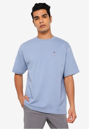 RAGEBLUE blue Embroidery T-Shirt 57C36AA8278926GS_1