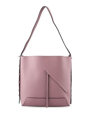 TOPSHOP pink Sicily Asymmetric Shoulder Bag TO412AC0SZ76MY_1