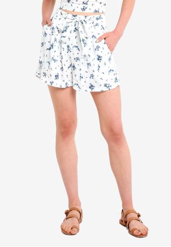 Jack Wills 藍色 花卉綁帶短褲 B461BAAA8F8875GS_1