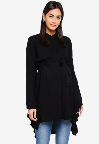 Mama.licious black Maternity Bluebell Woven Tunic 4BFC3AA72D9999GS_1