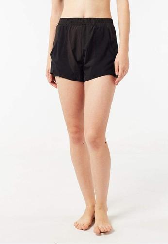 FUNFIT black Overlay Mesh Shorts (Black) 9D943AA0357FE2GS_1