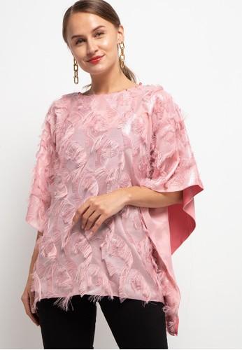 LUIRE by Raden Sirait pink Fm Ponco Kotak Crc 6DFABAAFAC42D6GS_1