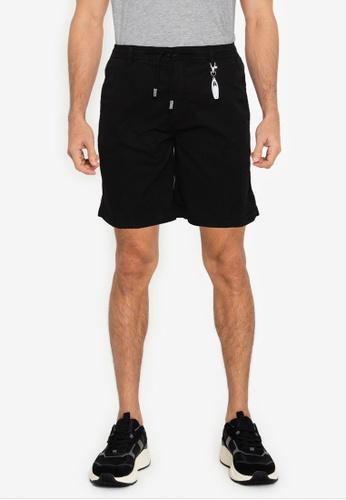 Springfield black Beach Bermuda Shorts With Key Ring DF439AA2FE2069GS_1