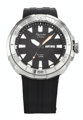 Alexandre Christie black Alexandre Christie Jam Tangan Pria - Black Silver - Silicon - 6427 MERSSSBA 0C2FCACAFDD863GS_1