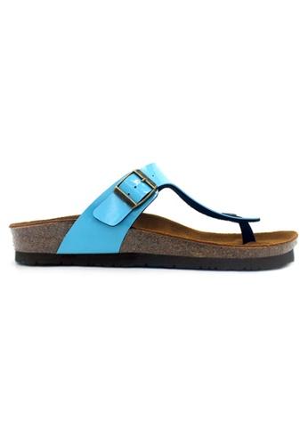 SoleSimple blue Rome - Glossy Blue Sandals & Flip Flops F4E88SH11D729FGS_1