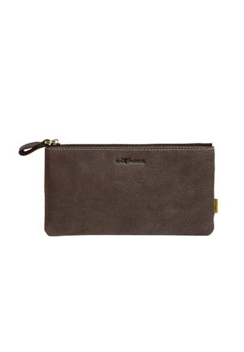 EXTREME brown Extreme Genuine Leather Pouch B3B01ACD3955F7GS_1