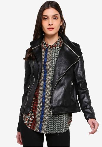 Desigual black Marble Biker Jacket 7AD4BAAF62E5BCGS_1