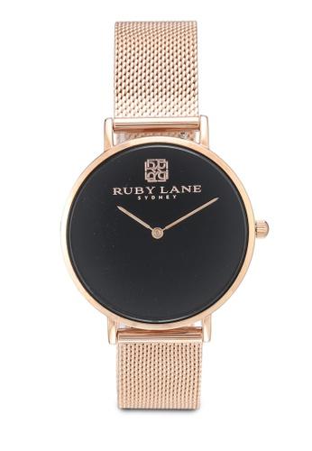 Ruby Lane 黑色 米蘭錶帶質感36mm手錶 08A83AC30B35D6GS_1