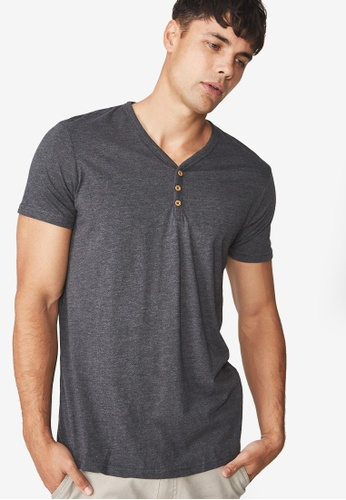 Cotton On grey The Other Henley T-Shirt CO372AA0RI03MY_1
