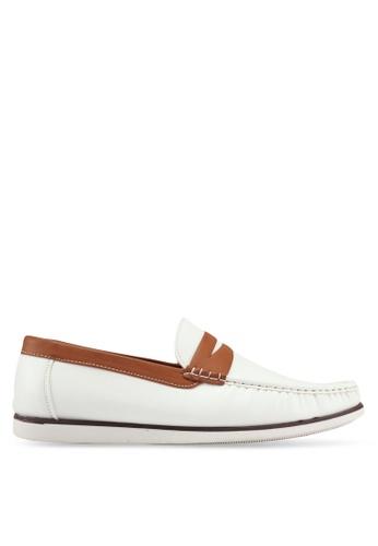 JAXON white Classic Canvas Loafers B2FEASHFE71A04GS_1