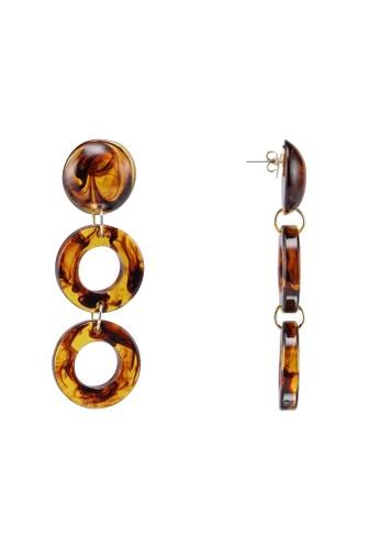 Pieces 褐色 圓圈耳環 3EC65AC3D680B8GS_1