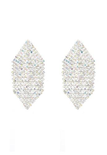 River Island silver Silver Toned Hexagon Drop Earrings RI009AC0S8SEMY_1