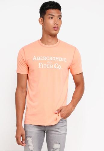 Abercrombie & Fitch orange Brand Logo T-Shirt D60E5AA2542F91GS_1
